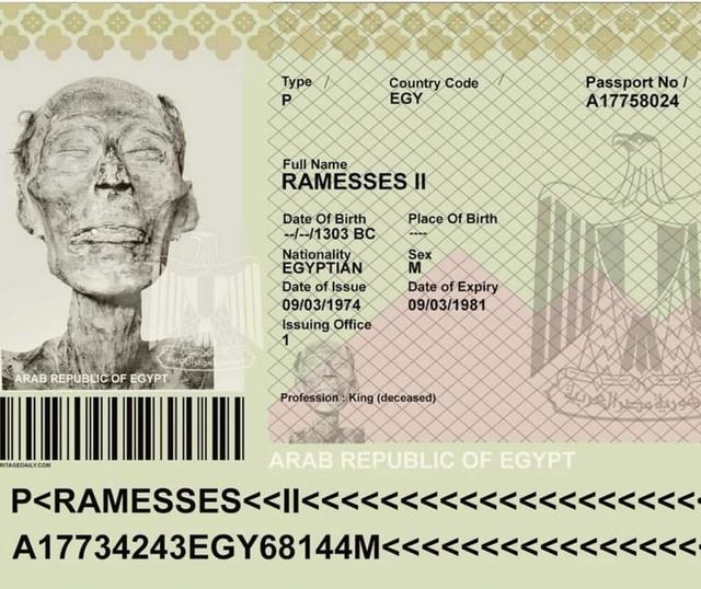 這些照片真的讓人大開眼界:古代法老王竟然也有護照?