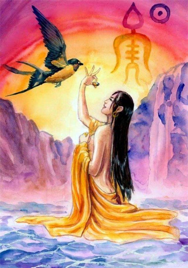 帝喾的美艳次妃简狄,一个生子方式奇特的女人